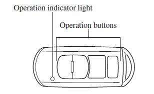 Mazda 3 Owners Manual - Transmitter - Keyless Entry System